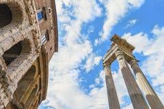 Όμορφη άποψη σχετικά με το αρχαίο ρωμαϊκό θέατρο Marcelού (Teatro Di Marcello) Στοκ φωτογραφία με δικαίωμα ελεύθερης χρήσης