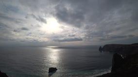 Όμορφη άποψη της ακτής απόθεμα βίντεο