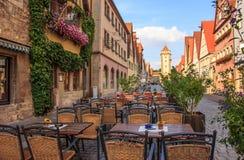 Όμορφη άποψη της ιστορικής πόλης Rothenburg ob der Tauber, Βαυαρία, Γερμανία Στοκ φωτογραφία με δικαίωμα ελεύθερης χρήσης