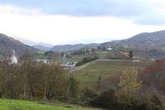Όμορφη άποψη της κοιλάδας στην εποχή φθινοπώρου στην Ισπανία Ευρώπη Στοκ Εικόνες