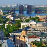 Όμορφη άποψη της παλαιάς περιοχής Podil Στοκ φωτογραφίες με δικαίωμα ελεύθερης χρήσης