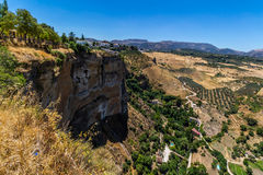 Όμορφη άποψη της περιοχής της Ronda, της Ισπανίας Στοκ φωτογραφία με δικαίωμα ελεύθερης χρήσης