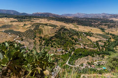 Όμορφη άποψη της περιοχής της Ronda, της Ισπανίας Στοκ εικόνα με δικαίωμα ελεύθερης χρήσης