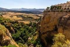 Όμορφη άποψη της περιοχής της Ronda, της Ισπανίας Στοκ Φωτογραφίες