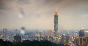 Όμορφη άποψη της πόλης της Ταϊπέι (χρονικό σφάλμα) απόθεμα βίντεο