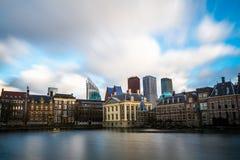 Όμορφη άποψη της Χάγης στο ηλιοβασίλεμα, Κάτω Χώρες, Ευρώπη Στοκ φωτογραφία με δικαίωμα ελεύθερης χρήσης