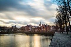 Όμορφη άποψη της Χάγης στο ηλιοβασίλεμα, Κάτω Χώρες, Ευρώπη Στοκ εικόνα με δικαίωμα ελεύθερης χρήσης