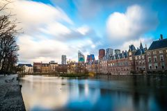Όμορφη άποψη της Χάγης στο ηλιοβασίλεμα, Κάτω Χώρες, Ευρώπη Στοκ εικόνες με δικαίωμα ελεύθερης χρήσης
