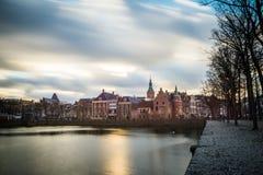Όμορφη άποψη της Χάγης στο ηλιοβασίλεμα, Κάτω Χώρες, Ευρώπη Στοκ Φωτογραφία