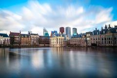 Όμορφη άποψη της Χάγης στο ηλιοβασίλεμα, Κάτω Χώρες, Ευρώπη Στοκ Εικόνα