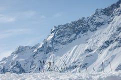 Όμορφη άποψη της χιονισμένης σειράς Matterhorn βουνών από την πλευρά της Ιταλίας Στοκ Φωτογραφίες