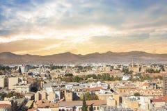 Όμορφη άποψη του γραφικού χωριού των artisans Λεύκαρα, Κύπρος Στοκ εικόνες με δικαίωμα ελεύθερης χρήσης