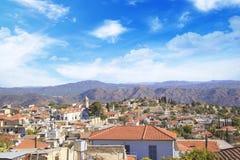 Όμορφη άποψη του γραφικού χωριού των artisans Λεύκαρα, Κύπρος Στοκ εικόνα με δικαίωμα ελεύθερης χρήσης