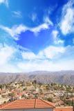 Όμορφη άποψη του γραφικού χωριού των artisans Λεύκαρα, Κύπρος Στοκ Εικόνες