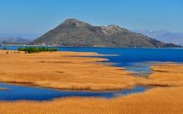 Όμορφη άποψη του εθνικού πάρκου Skadar λιμνών Στοκ φωτογραφία με δικαίωμα ελεύθερης χρήσης