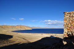 Όμορφη άποψη του θιβετιανού τοπίου Στοκ Εικόνες