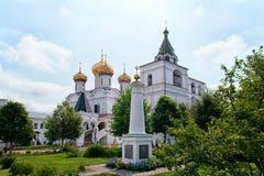 Όμορφη άποψη του ιερού μοναστηριού Ipatiev τριάδας στη Ρωσία στην πόλη Kostroma στο Βόλγα στοκ φωτογραφία με δικαίωμα ελεύθερης χρήσης