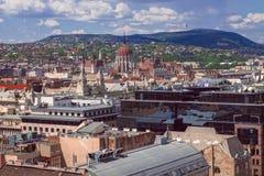 Όμορφη άποψη του Κοινοβουλίου στο Δούναβη στη Βουδαπέστη Ουγγαρία Στοκ εικόνες με δικαίωμα ελεύθερης χρήσης
