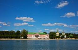 Όμορφη άποψη του κτήματος Kuskovo στοκ φωτογραφίες με δικαίωμα ελεύθερης χρήσης