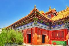 Όμορφη άποψη του ναού λάμα Yonghegong Πεκίνο Ο ναός λάμα είναι Στοκ εικόνα με δικαίωμα ελεύθερης χρήσης