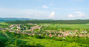 Όμορφη άποψη του χωριού Bazna, Ρουμανία, Τρανσυλβανία στοκ φωτογραφίες με δικαίωμα ελεύθερης χρήσης