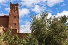 Όμορφη άποψη του kasbah Ait ben Haddou στο Μαρόκο Στοκ εικόνες με δικαίωμα ελεύθερης χρήσης