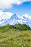 Όμορφη άποψη του mont blanc στα γαλλικά όρη Στοκ εικόνα με δικαίωμα ελεύθερης χρήσης