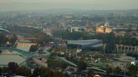 Όμορφη άποψη του Tbilisi απόθεμα βίντεο