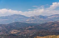 Όμορφη άποψη των βουνών στην περιοχή της Ανδαλουσίας, hous Στοκ Εικόνες
