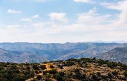 Όμορφη άποψη των βουνών στην περιοχή της Ανδαλουσίας, hous Στοκ φωτογραφία με δικαίωμα ελεύθερης χρήσης