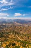 Όμορφη άποψη των βουνών στην περιοχή της Ανδαλουσίας, hous Στοκ φωτογραφίες με δικαίωμα ελεύθερης χρήσης