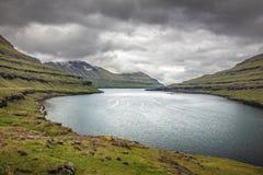 Όμορφη άποψη των Νήσων Φερόες Στοκ εικόνα με δικαίωμα ελεύθερης χρήσης