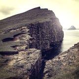 Όμορφη άποψη των Νήσων Φερόες Στοκ φωτογραφίες με δικαίωμα ελεύθερης χρήσης