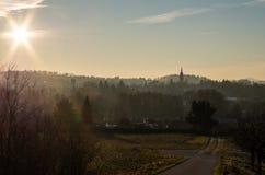 Όμορφη άποψη auf Neugersdorf Neugersdorf/Schöner Blick Στοκ Φωτογραφία