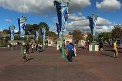 Όμορφη άποψη Disneyland Στοκ εικόνα με δικαίωμα ελεύθερης χρήσης