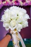 Όμορφη άσπρη ανθοδέσμη γαμήλιων λουλουδιών Στοκ εικόνες με δικαίωμα ελεύθερης χρήσης