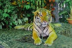 Όμορφη άσπρη τίγρη Στοκ Φωτογραφίες