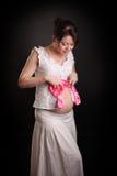 Όμορφη έγκυος γυναίκα. Στοκ Εικόνες