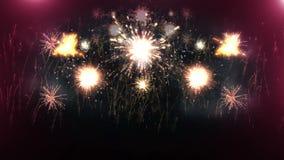 Όμορφη έκρηξη πυροτεχνημάτων 4K ελεύθερη απεικόνιση δικαιώματος