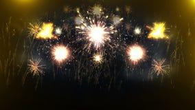 Όμορφη έκρηξη πυροτεχνημάτων 4K απεικόνιση αποθεμάτων