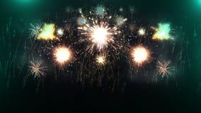 Όμορφη έκρηξη πυροτεχνημάτων 4K απόθεμα βίντεο