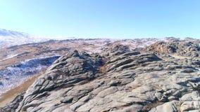 Όμορφη έκταση κατά μήκος του τοίχου πετρών βουνών απόθεμα βίντεο