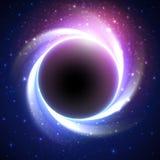 Όμορφη έκλειψη σε έναν απόμακρο γαλαξία διάνυσμα ελεύθερη απεικόνιση δικαιώματος