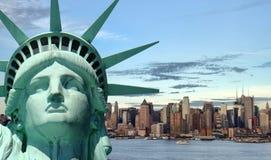 Όμορφη έννοια ταξιδιού τουρισμού για την πόλη της Νέας Υόρκης Στοκ φωτογραφίες με δικαίωμα ελεύθερης χρήσης