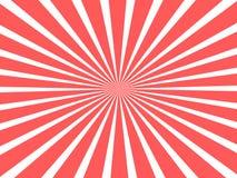 Όμορφη έννοια υποβάθρου για το τσίρκο με τις κόκκινες κυκλικές κορδέλλες διανυσματική απεικόνιση