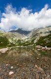 Όμορφη λίμνη σε υψηλά Tatras - Skalnate Pleso Στοκ Εικόνες