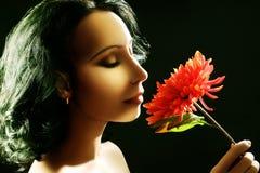 Όμορφη αισθησιακή γυναίκα brunette στοκ εικόνες