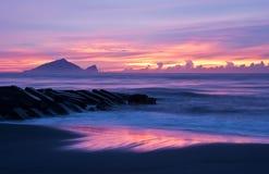 Όμορφη ακτή τοπίου ανατολής της Ταϊβάν Στοκ Εικόνα