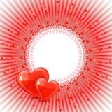 Όμορφη ανασκόπηση με τις καρδιές Στοκ εικόνες με δικαίωμα ελεύθερης χρήσης