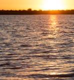 όμορφη ανατολή λιμνών Στοκ Εικόνες
